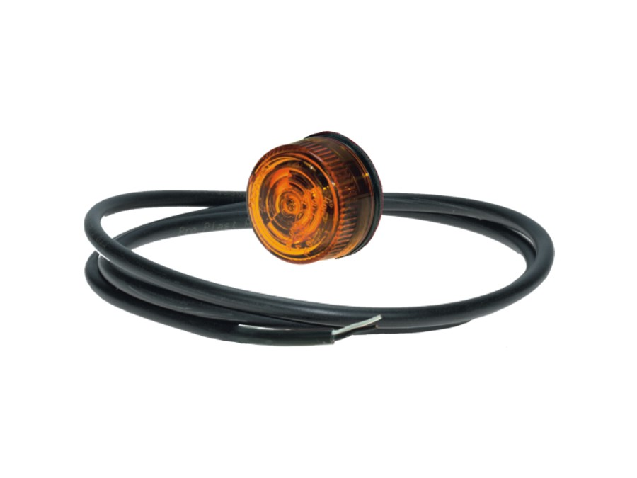 Äärivalo LED Pro-Penny oranssi,12/24V,0,5m johto,sis.tarra
