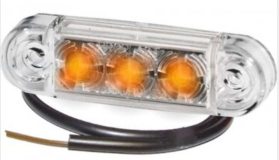 Äärivalo LED Pro-Slim, keltainen 24V