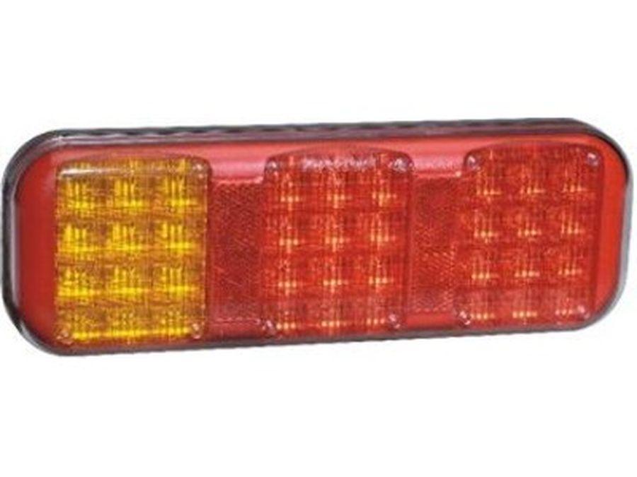 Taka Äärivalo LED PRO-42 3-kammiovalo, punainen/oranssi 9-33V