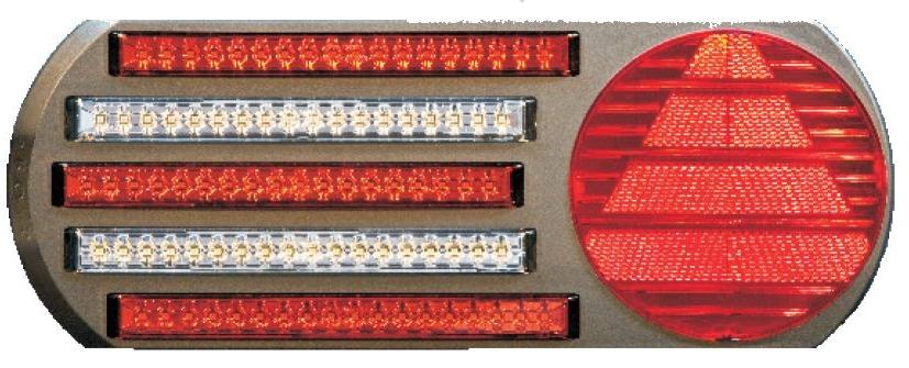 Taka Äärivalo Pro-5 LED Takavaloryhmä 5 toimintoa, vasen 24V