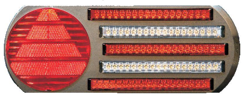 Taka Äärivalo Pro-5 LED Takavaloryhmä 5 toimintoa, oikea 24V