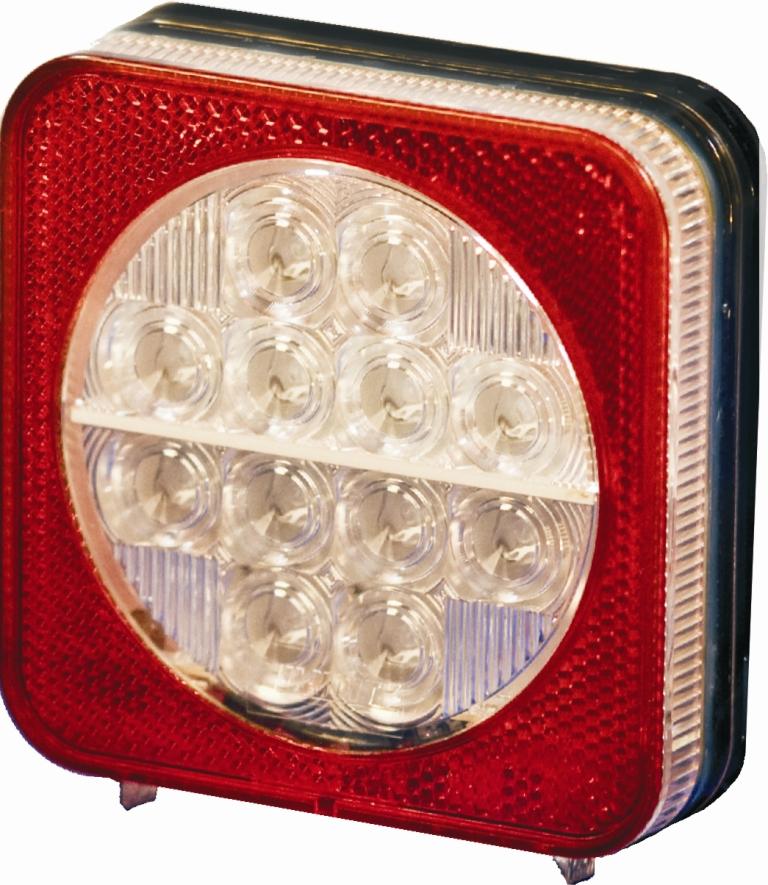 Taka Äärivalo LED Pro-Box 3-valoa + heijastin, 12/24V
