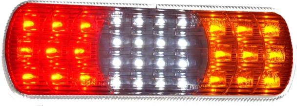 Taka Äärivalo LED 4-kammiovalo, punainen/kirkas/oranssi 12/24V