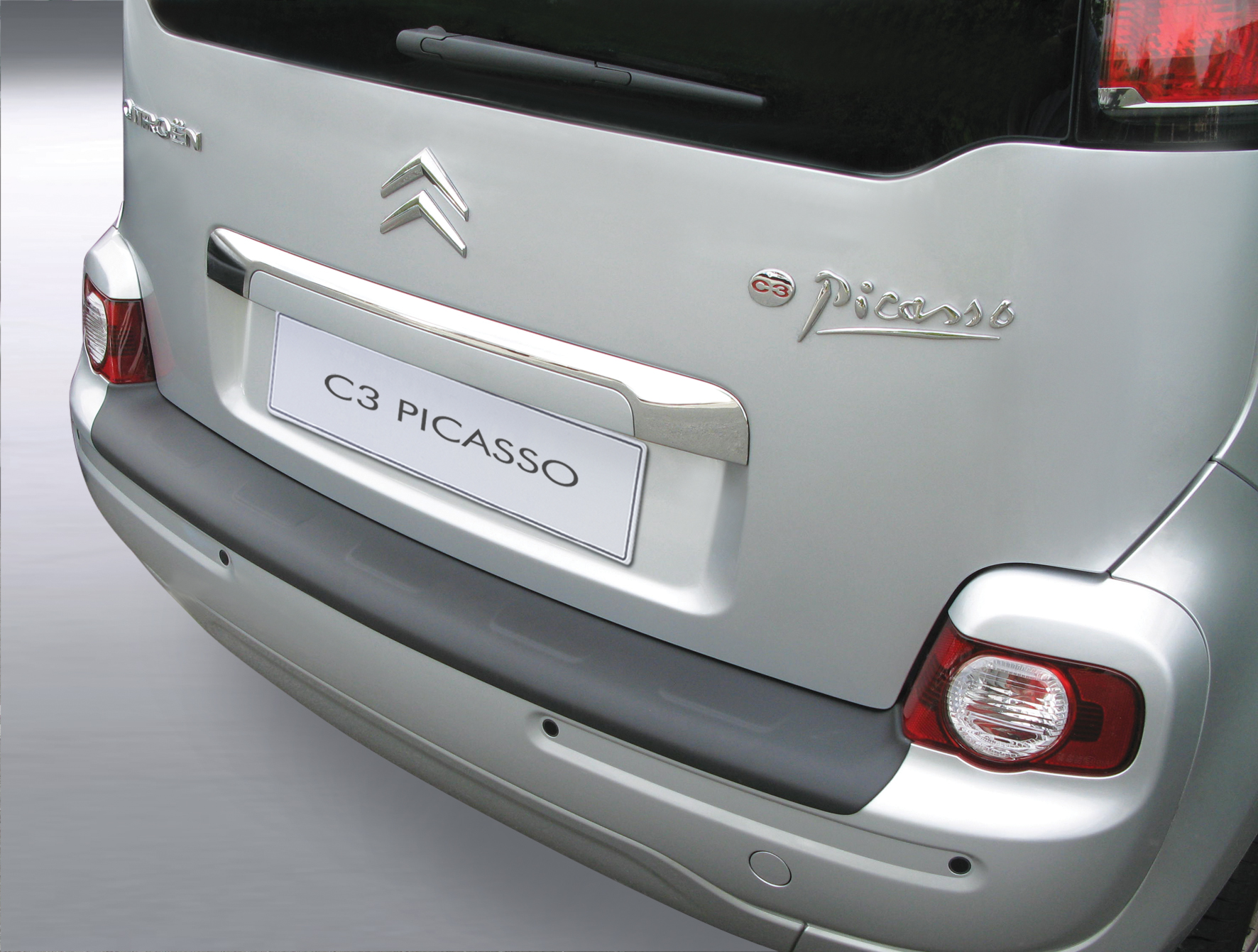 Takapuskurin kolhusuoja Citroen C3 Picasso 3/2009