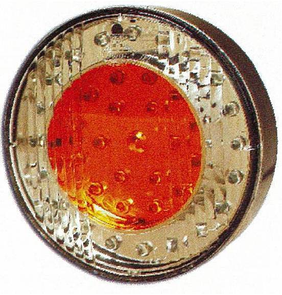 Taka Äärivalo LED 3-kammiovalo Ø 103mm, punainen 12V