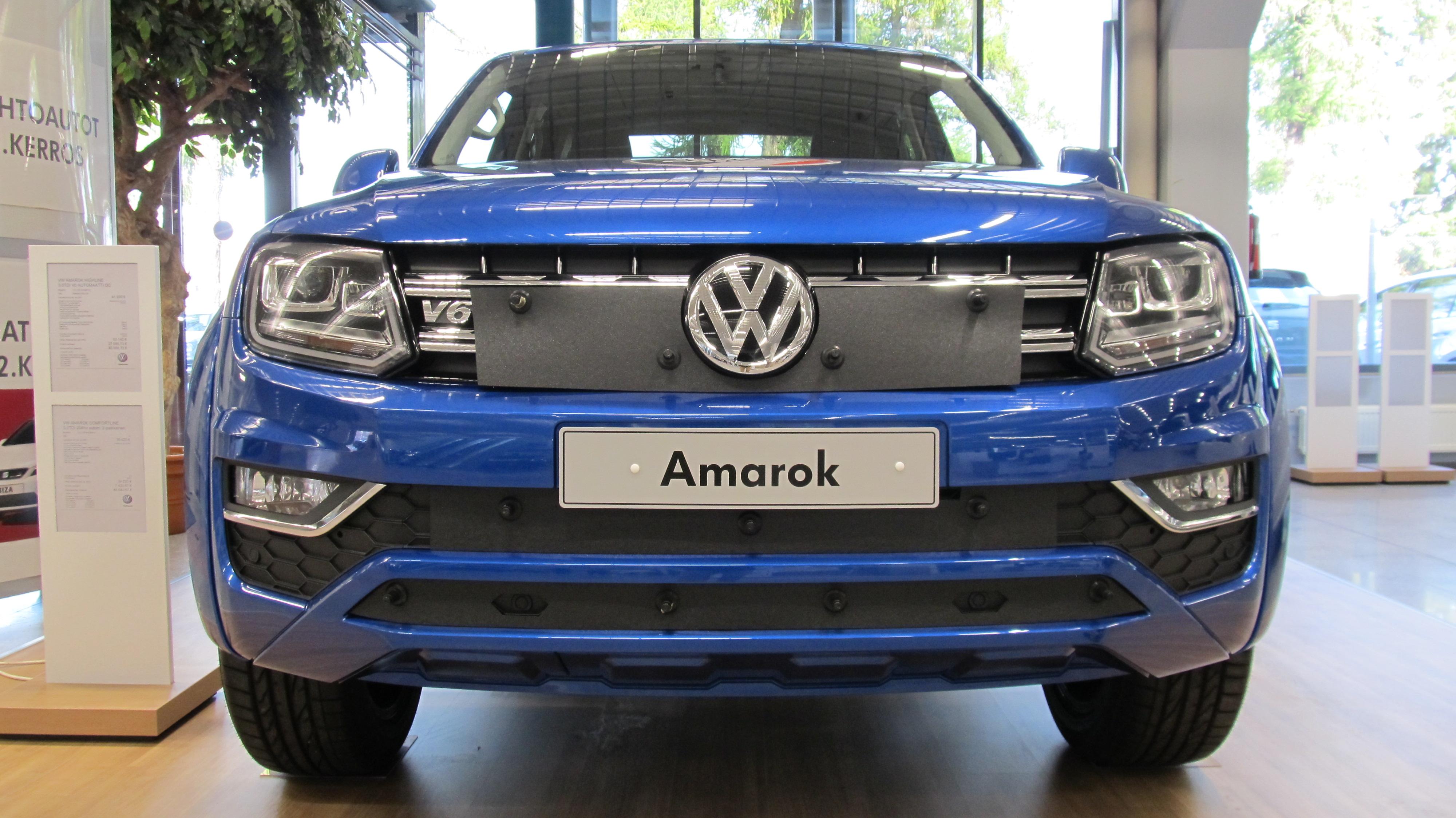 Maskisuoja Volkswagen Amarok 11-16 Huom!Vain musta puskuri! (Kopio)