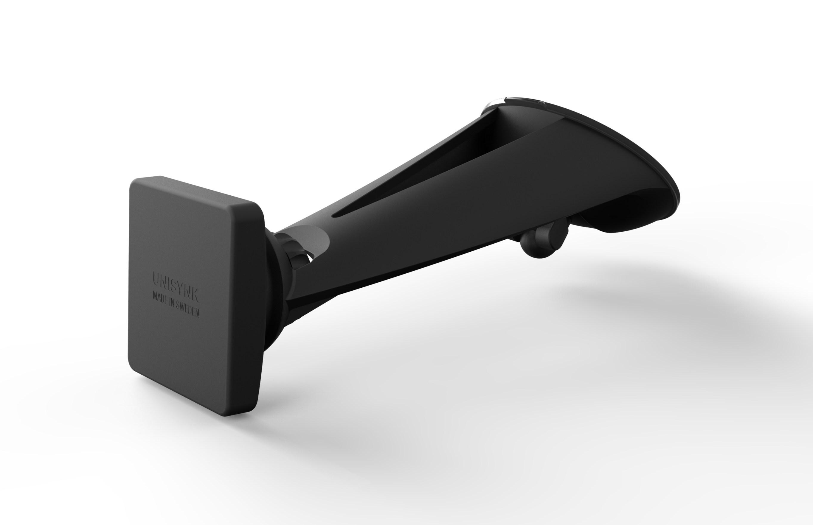 Yleismallinen puhelinpidin magneetilla ikkunaan imukupilla