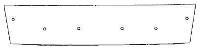 Maskisuoja Volkswagen Caddy 11-7/15, tehdasmaalattu puskuri